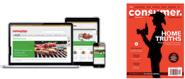 Laptop, tablet, mobile showing Consumer NZ website, beside Consumer NZ magazine